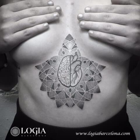 Mente y corazón en un mismo tatuaje