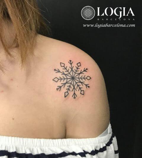 Copos De Nieve Que Jamás Se Derriten Tatuajes Logia Barcelona