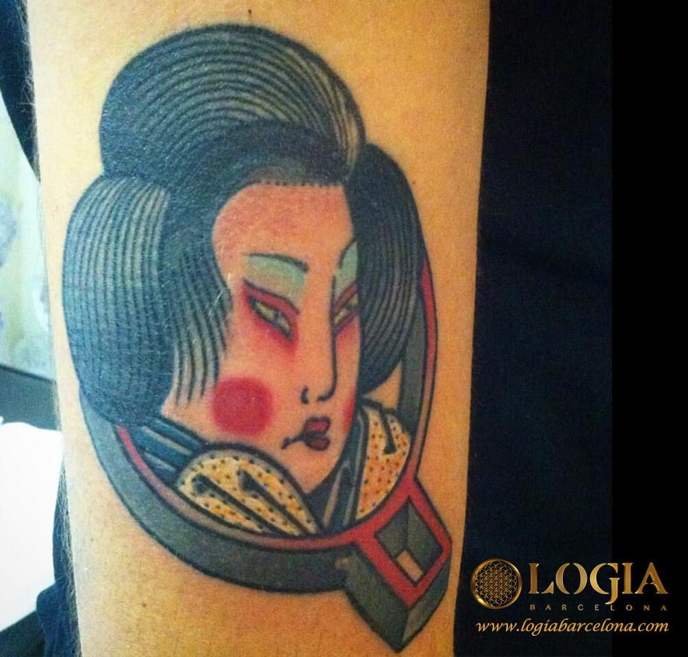 tatuaje japones geisha logia tattoo