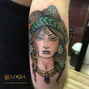 tatuaje retrato brazo logia barcelona laia