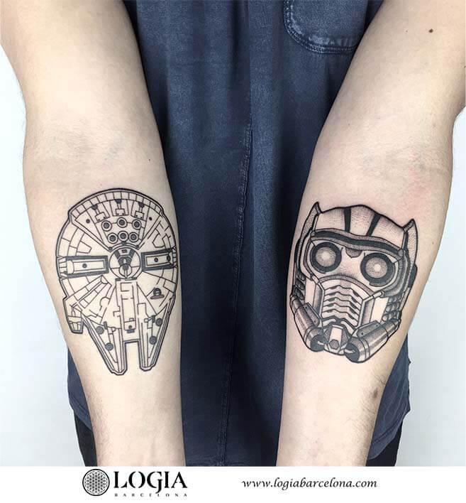 tatuaje antebrazos starwars ana godoy