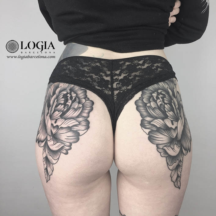 tatuaje culo flores logiabarcelona ana godoy