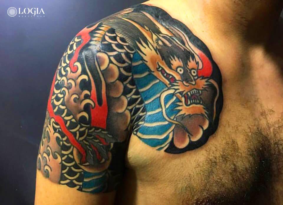 Magia Y Mito Los Mejores Tatuajes De Dragones Tatuajes Logia
