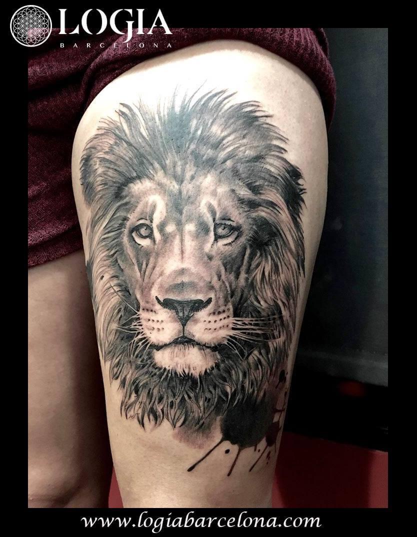 tatuaje leon logia barcelona