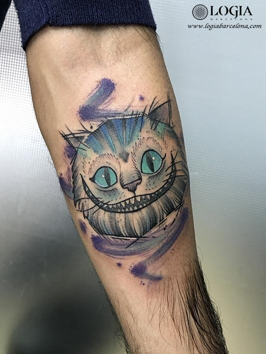 tatuaje cheshire cat