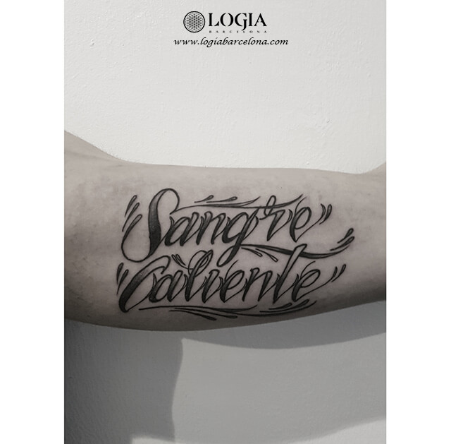 tatuaje lettering