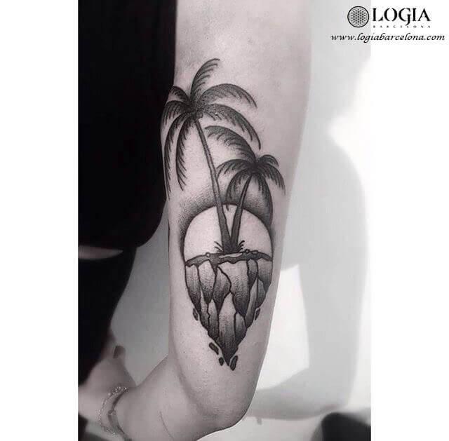 tatuaje palmeras brazo moskid logia barcelona