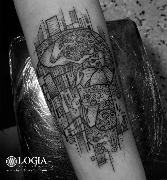 tatuaje mosaico brazo logia tattoo fox