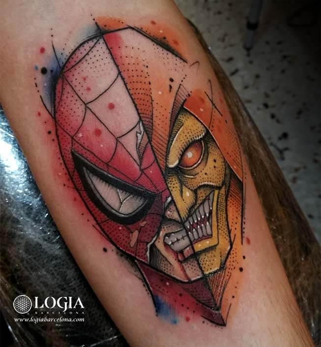 spiderman duende verde tattoo