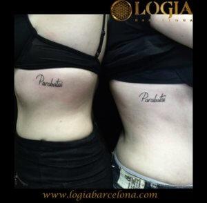 tatuaje pareja lettering logia barcelona
