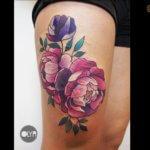 tatuaje flores olya levchenko logia tattoo