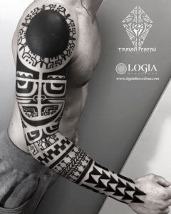 tatuajes de invitados brazo tribal logia barcelona alessandro oliviero