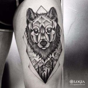 Salvajes Y únicos Tatuajes De Lobos Tatuajes Logia Barcelona