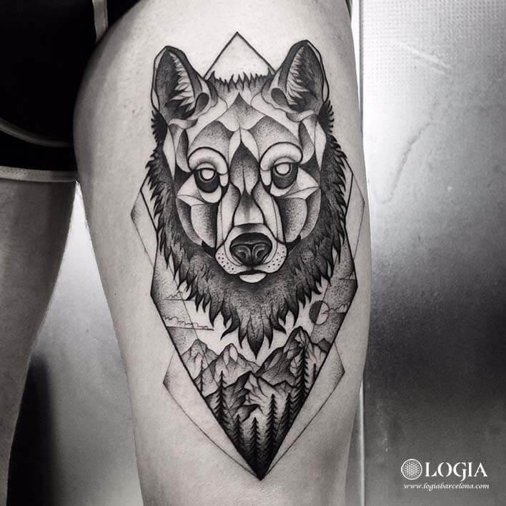 tatuajes de lobos logia barcelona franki