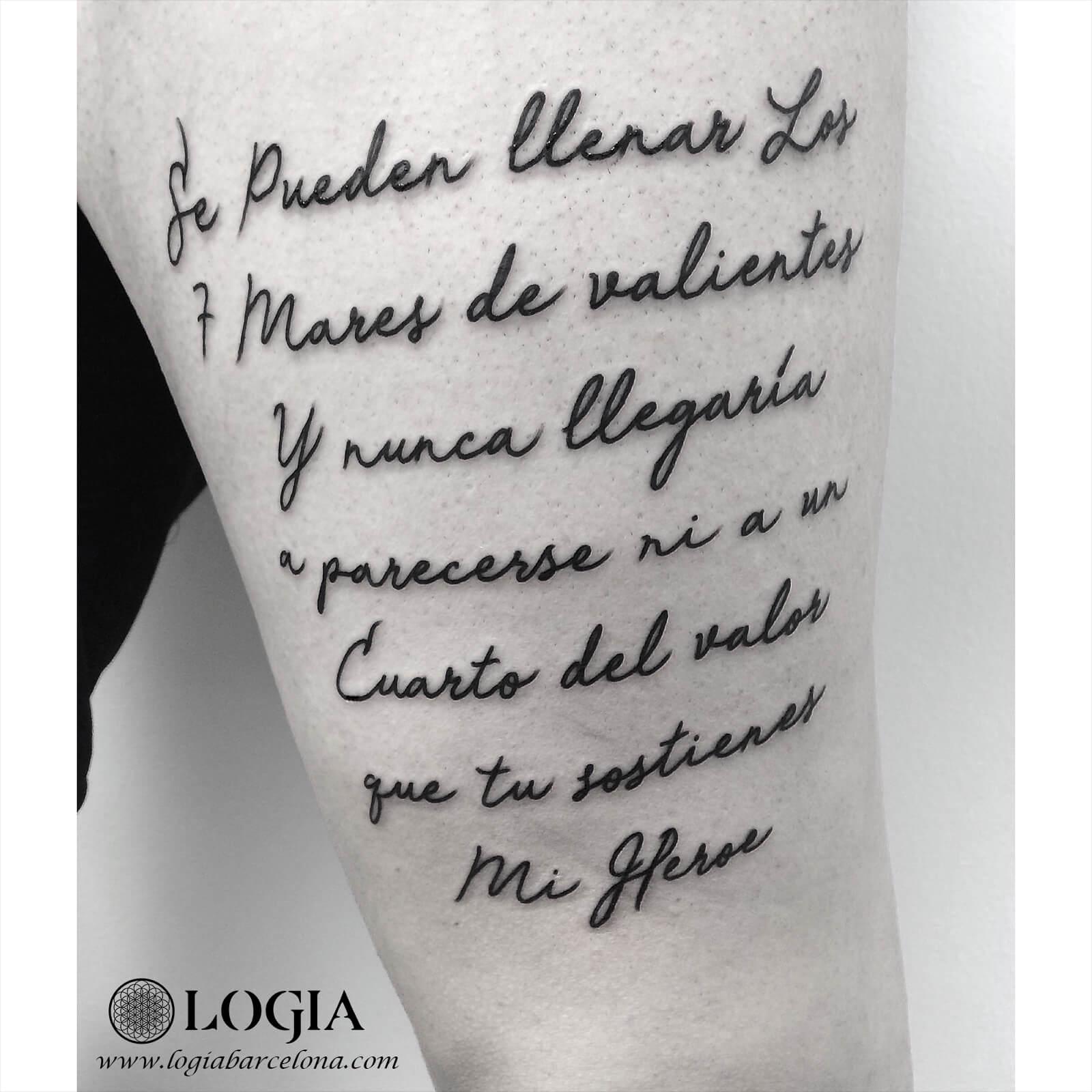 Tatuajes De Frases En Español Para Hijos Logia Tattoo