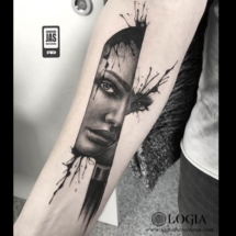 tatuajes de caras de mujeres javier jas logia tattoo