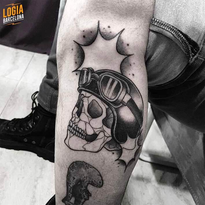 Tatuaje Calavera Newschool