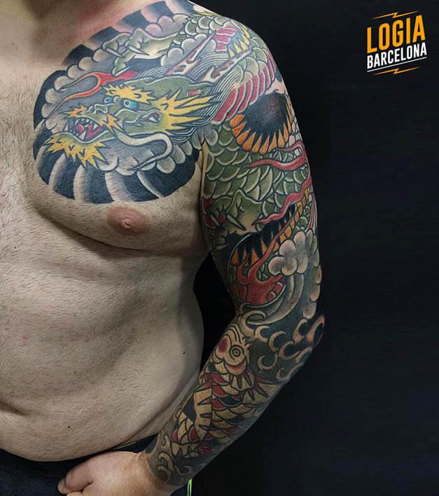 tatuaje hombro japanese logia barcelona