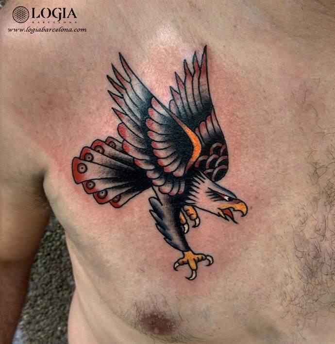 tatuaje pecho aguila