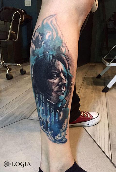tatuaje harry potter snape logia barcelona