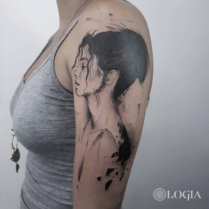 tatuaje retrato sketch  logia barcelona dani bastos