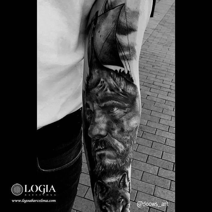 tatuaje vikings brazo logia barcelona andilla