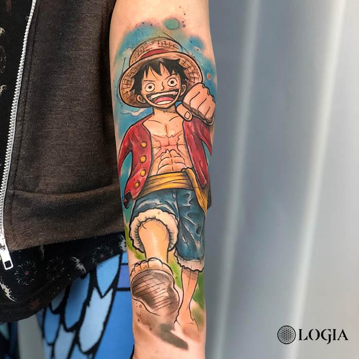 tatuaje antebrazo onepiece logia barcelona rzychu