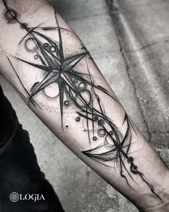 tatuajes brazo estrella logia barcelona janiak