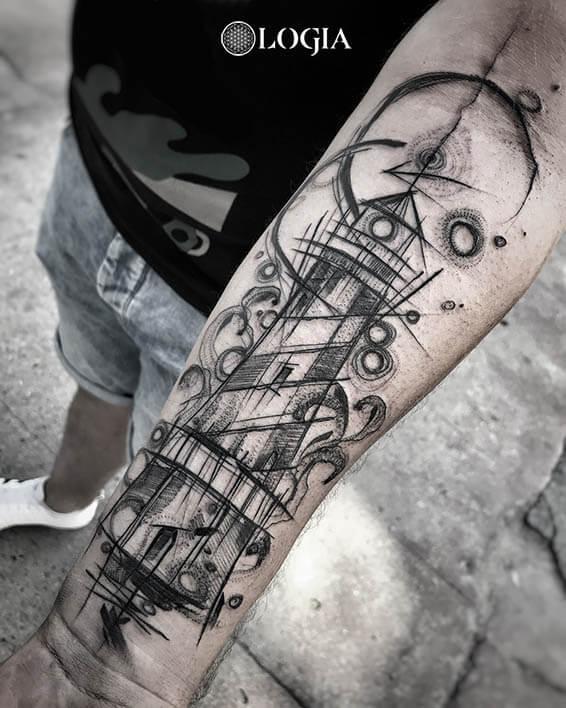 tatuajes sketch faro logia barcelona janiak