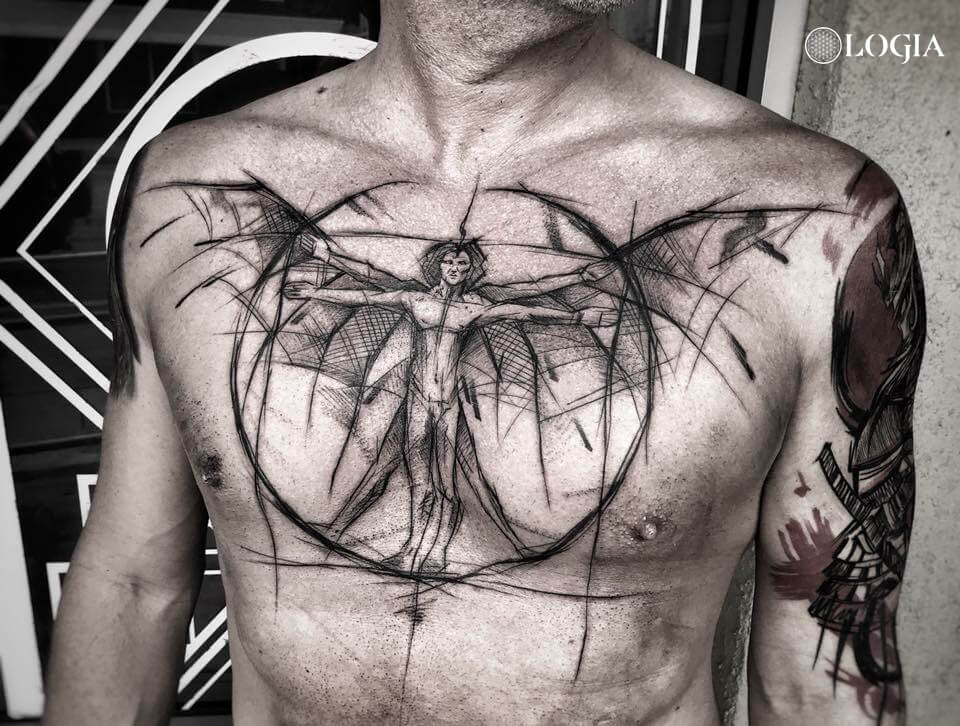 tatuajes pecho davinci logia barcelona janiak
