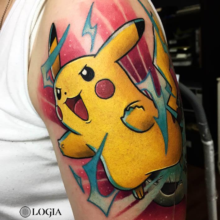 tatuaje pikachu hombro logia barcelona salamonetatuaje pikachu hombro logia barcelona salamone