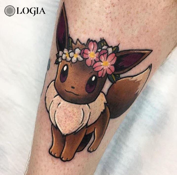 tatuaje pokemon brazo logia barcelona salamone