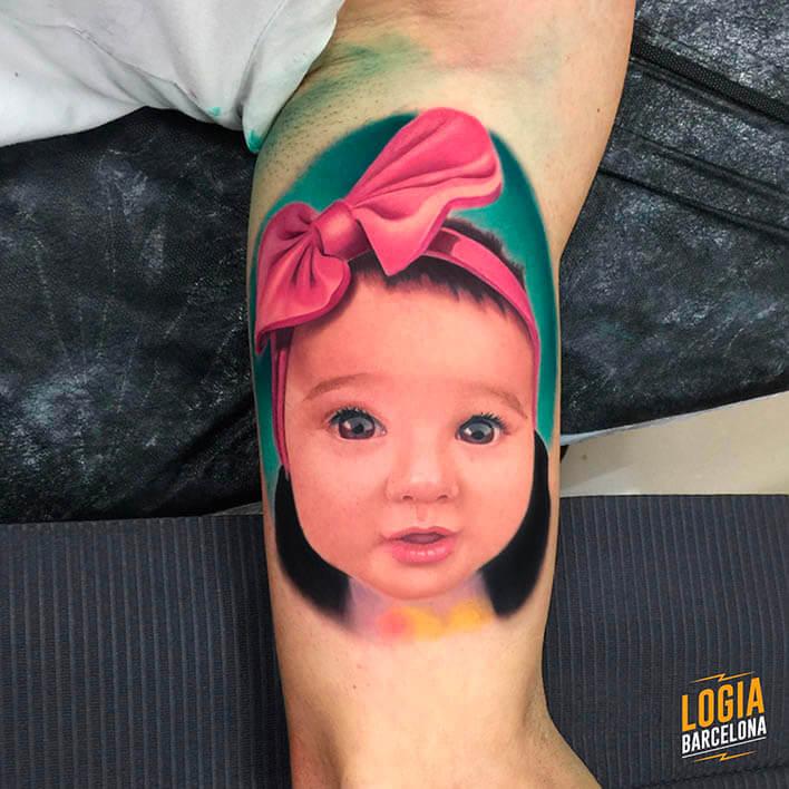 tatuaje bebé retrato