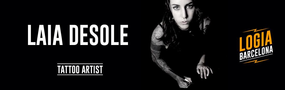 Tattoo Artist Laia Desole Logia Barcelona