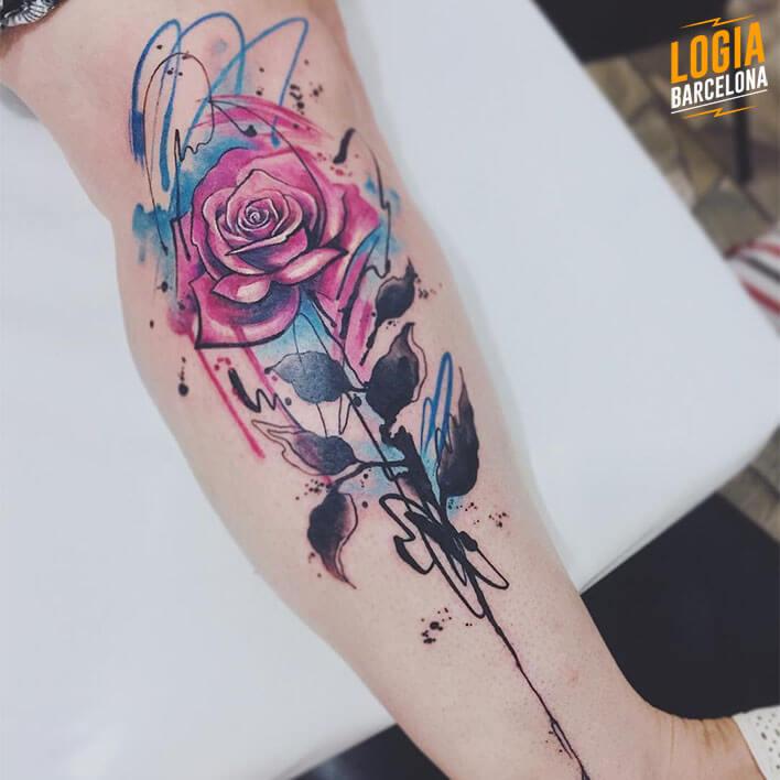ᐅ Tatuajes De Rosas Para Hombres Y Mujeres Logia Tattoo Barcelona