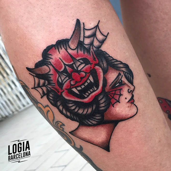 tatuaje antebrazo demonio fran ruina