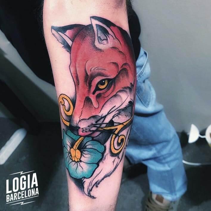 tatuaje brazo zorro logia tattoo stefano giorgi