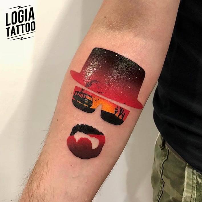 tatuaje doble exposición breaking bad antebrazo daria stahp