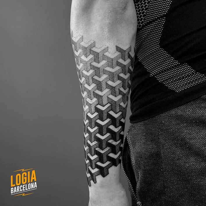 tatuaje escher brazo ferran torre logia barcelona