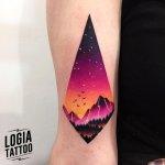 Tatuaje montaña
