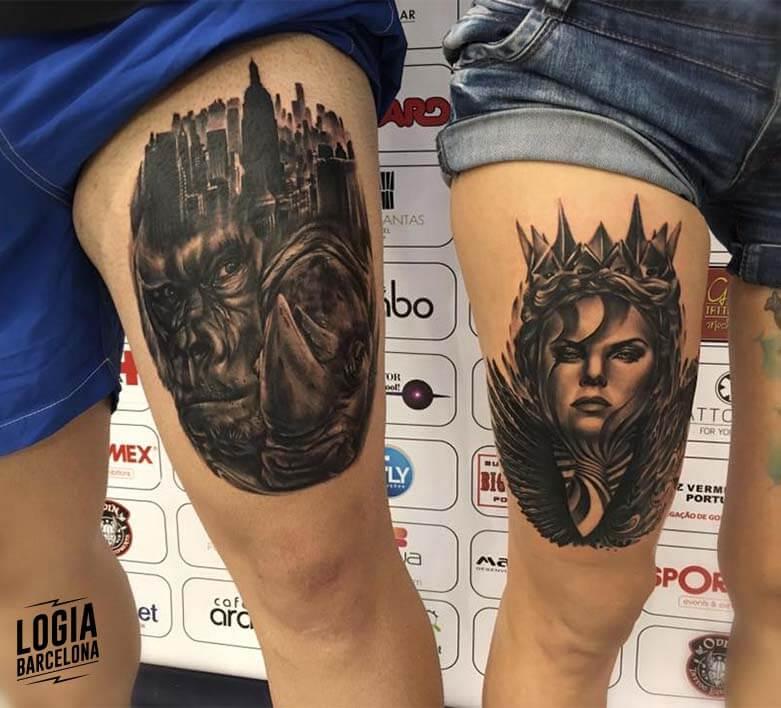 tatuaje gorila king kong