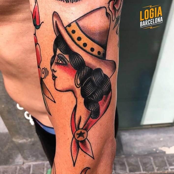tatuaje mexicana brazo logia barcelona julio herrero