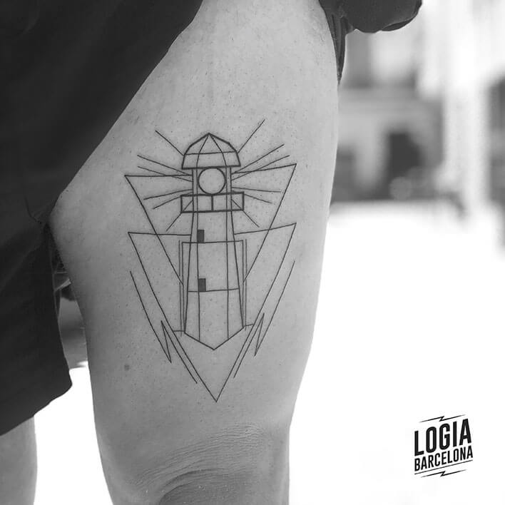 tatuaje pierna faro ferran torre logia barcelona