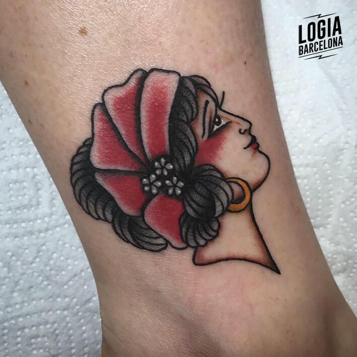 tatuaje talon gitana logia barcelona fran ruina