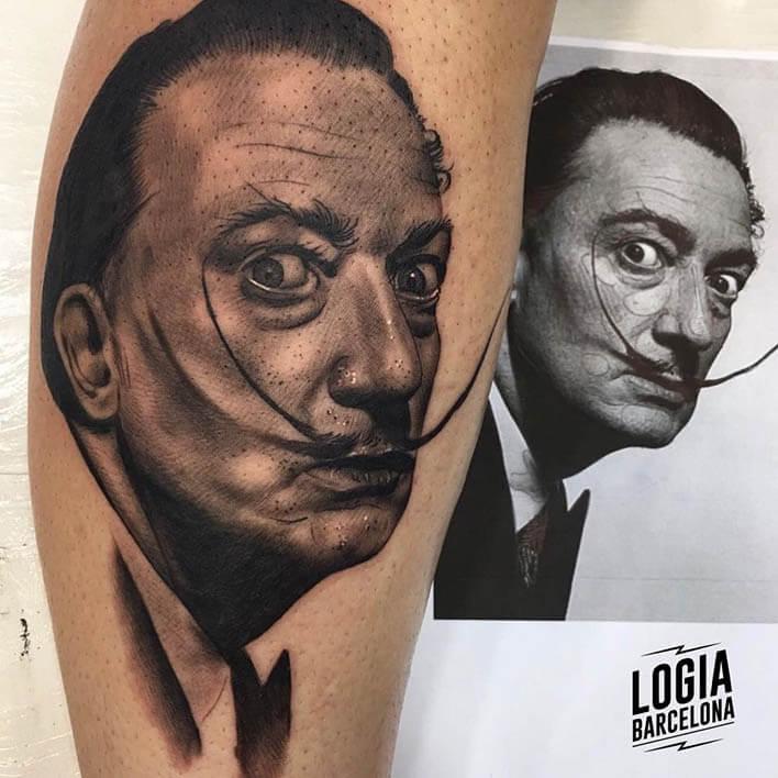 tatuaje de dalí - Logia Barcelona