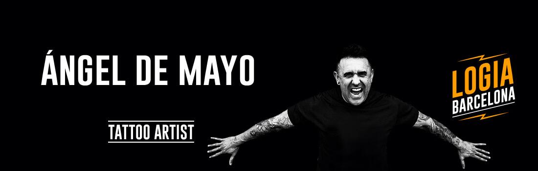 Tattoo Artist Angel de Mayo Logia Barcelona