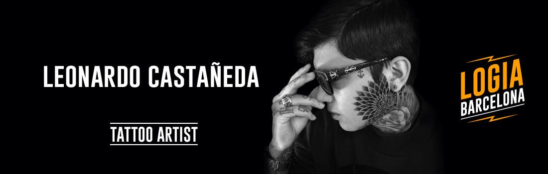 Tatuador Leonardo Castañeda Logia Barcelona