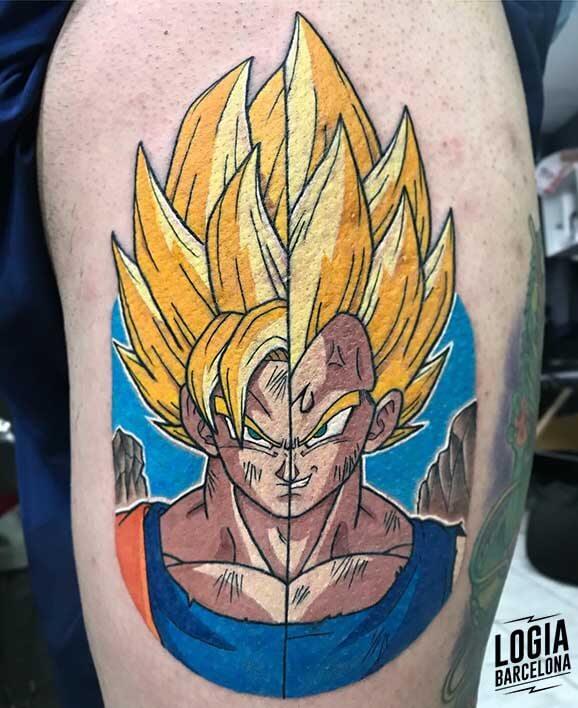 tatuaje_goku_vegeta_dragonball_logia_barcelona_negative