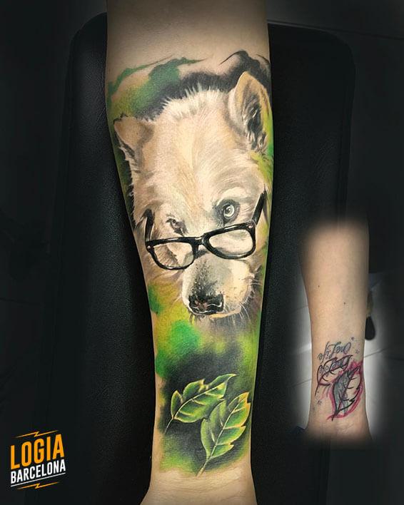 lobo tatuaje