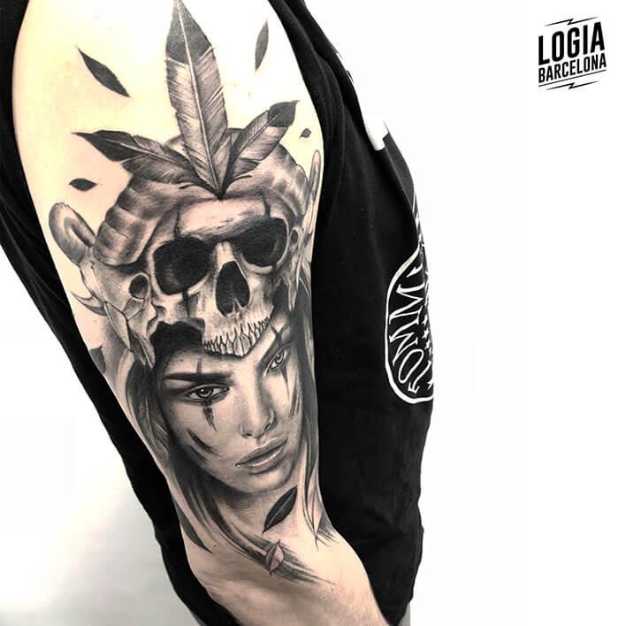 Mononoke Tattoo guerrera hombro Jas Logia Barcelona
